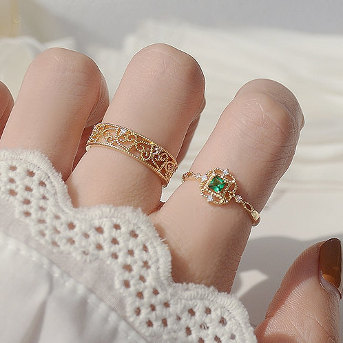 Heart Pattern Lace Ring