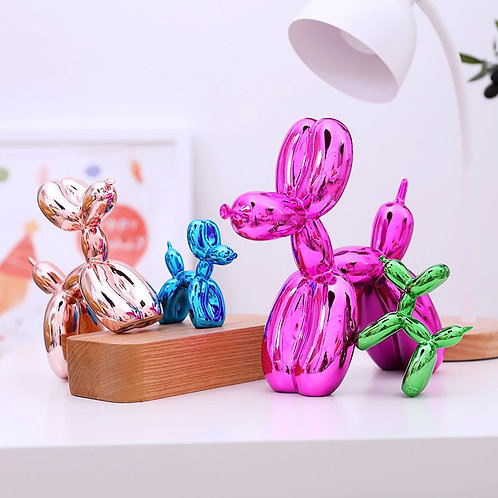 Hot Sale Shiny Balloon Dog Abstract Crafts Resin Statue Home Decor Art