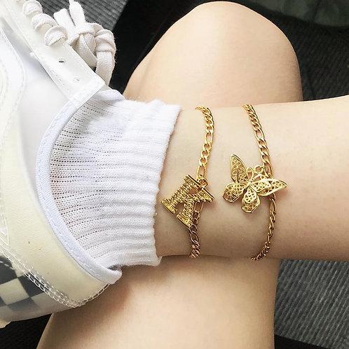 butterfly anklet bracelet For Women foot butterfly jewelry women