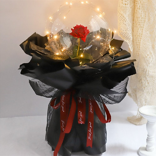 LED Luminous Balloon Rose Bouquet Artificial dried flowers Birthday