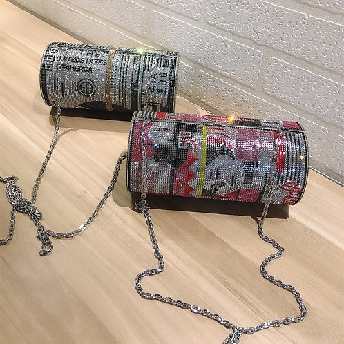 Rolled Dollar Bill bag