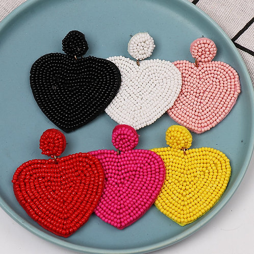 Wholesale JUJIA New Arrival Dangle Earring Beads Big Vintage Love