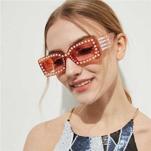Pearl Rectangle Sunglasses
