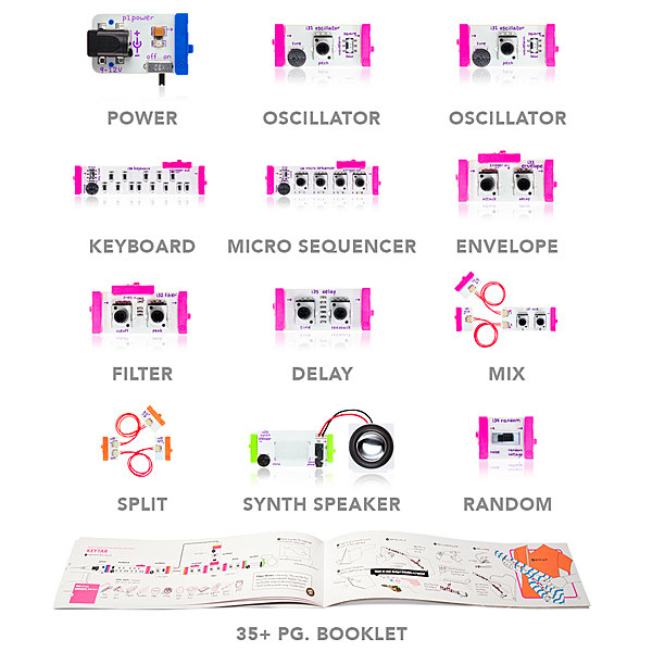 LittleBits Synth Kit Contents