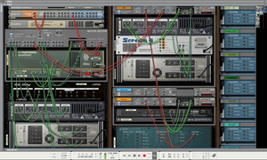 Screenshot of Reason Patching Devices in the Rack