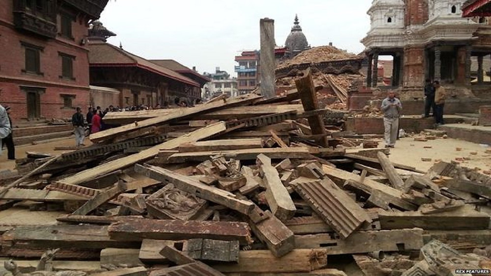 Patan Square in Kathmandu after earthquake