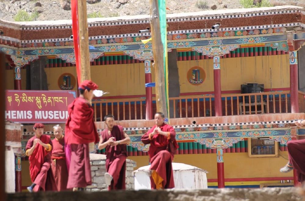 Monks dancing at Hemis Monastery