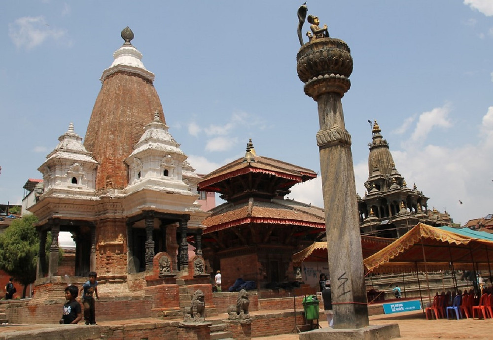 Patan Square in Kathmandu before earthquake