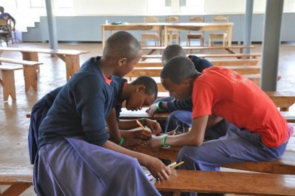 Students at Ganako Secondary School