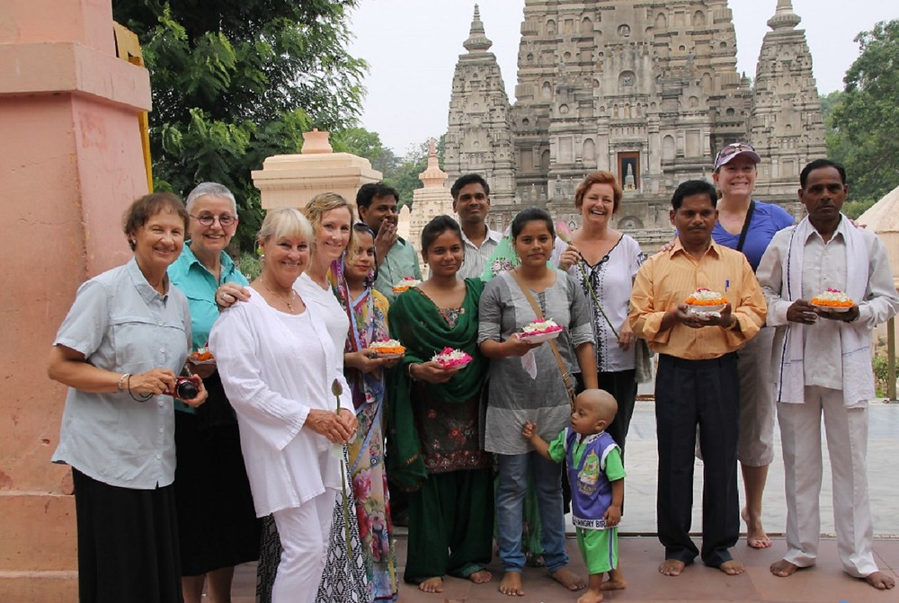 Making friends in Bodh Gaya, India