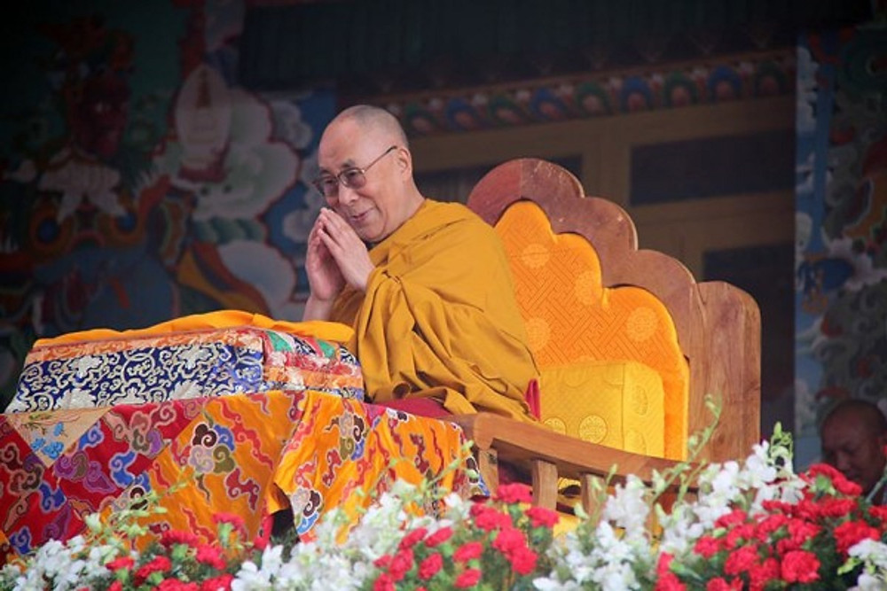 His Holiness the 14th Dalai Lama, wishing Westerners a Merry Christmas at Tashi Lhunpo Monastery, 2015