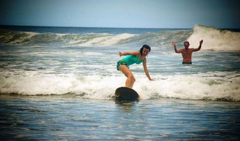 Surf lesson with Rancho Cecilia at Playa Maderas, Nicaragua