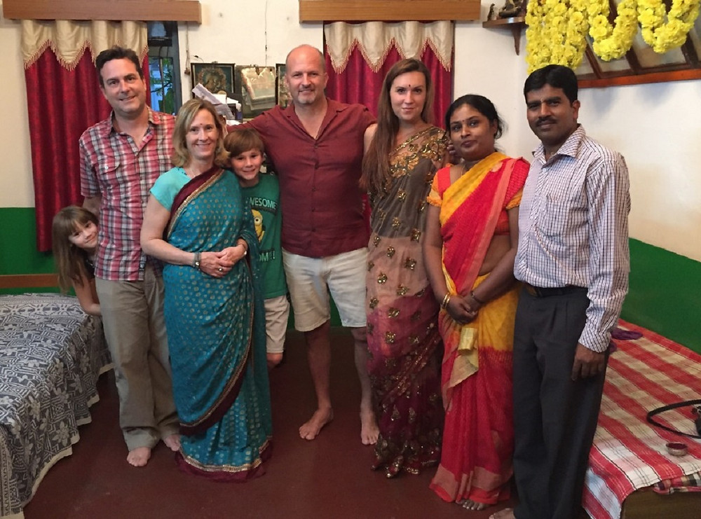 A fun visit with a local Mysore family!