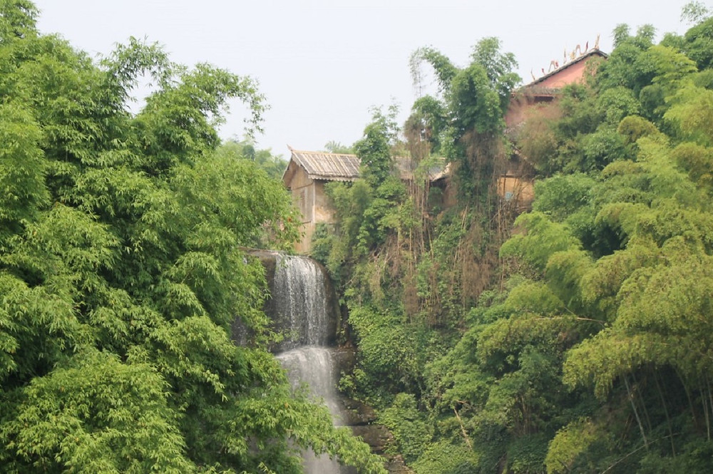 Waterfalls in Bamboo Forest