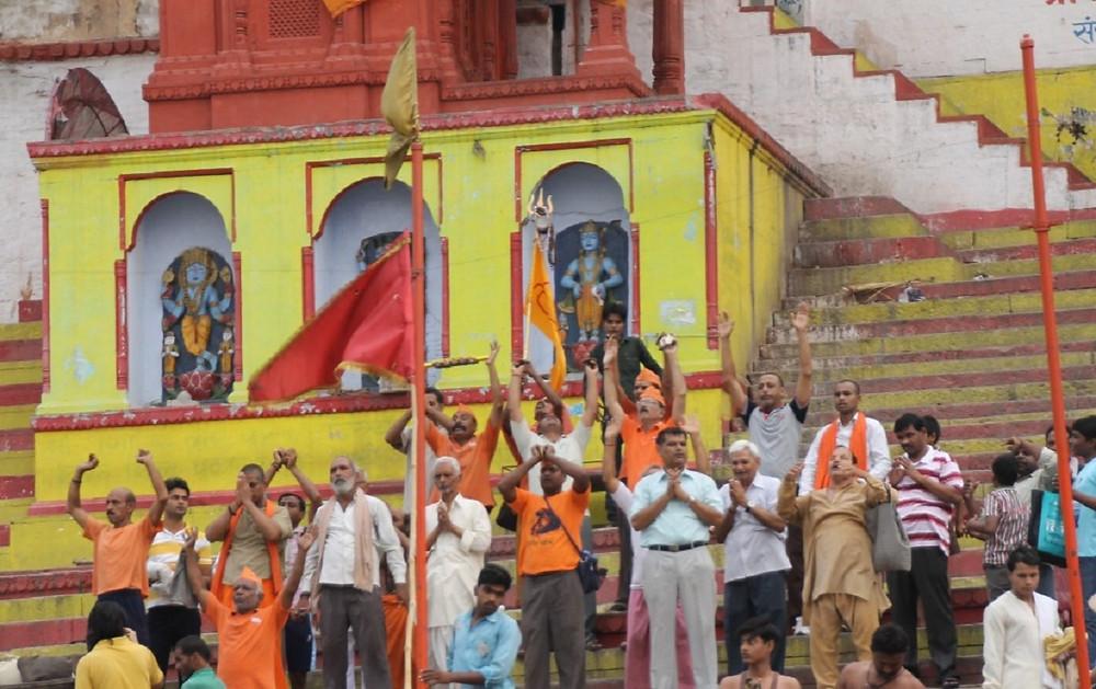Early morning prayers on Varanasi's Ghats