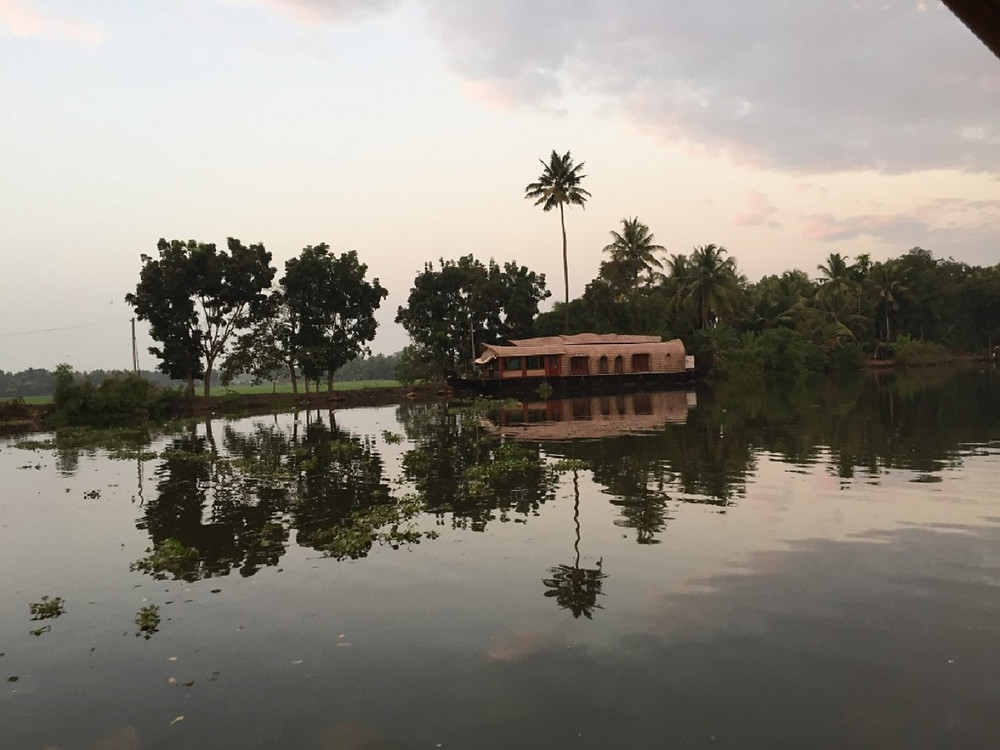 House boat in Kerala, South India