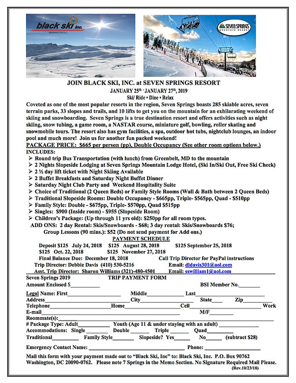 2019 Seven Springs Flyer Rev.   10-23-18