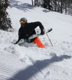 Justin Jenkins Smiling after a fall in RED Mountain!