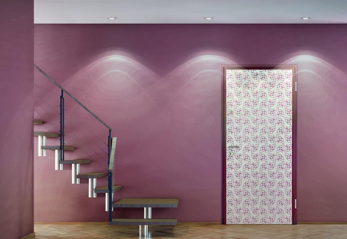 Porte personnalisée et peinture rose