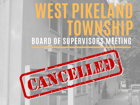 Board of Supervisors Meeting - CANCELLED