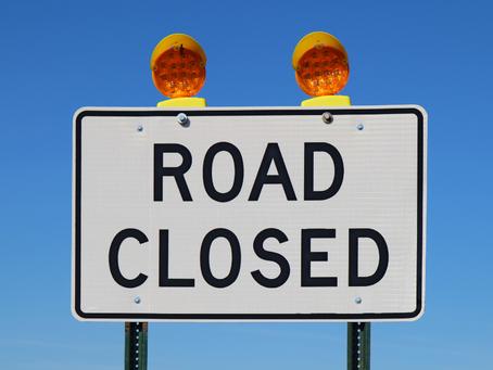 Art School Road Closed - October 26-28