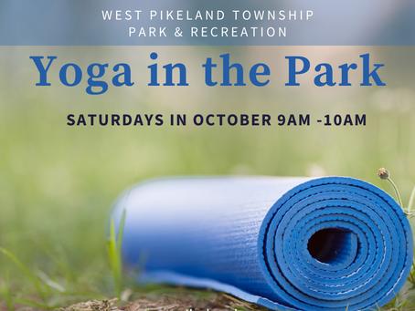 Yoga in the Park in October