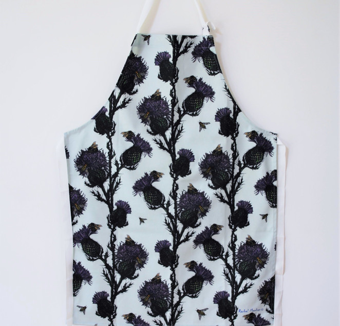 Thistle & Bee Apron Repeat pattern