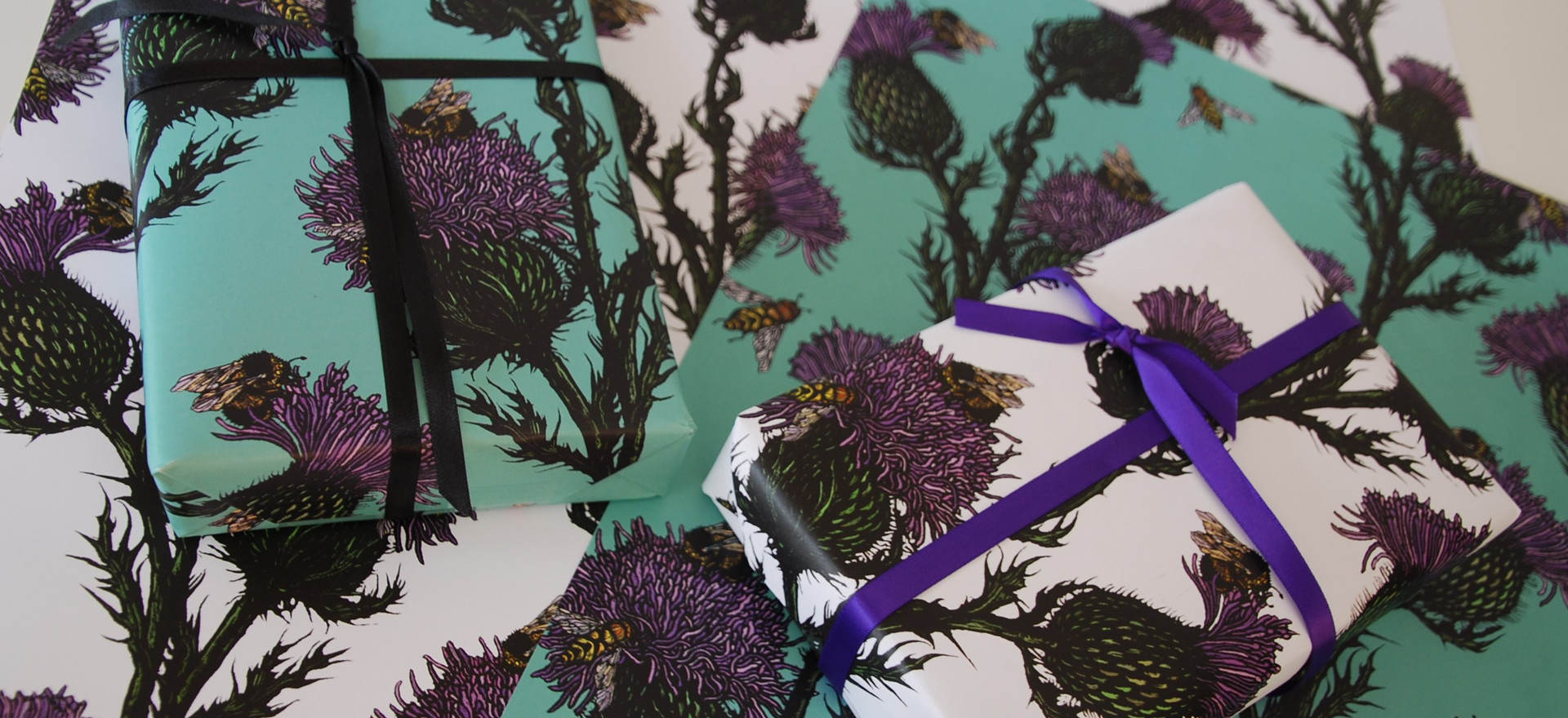 Thistle & Bee Gift Wrap