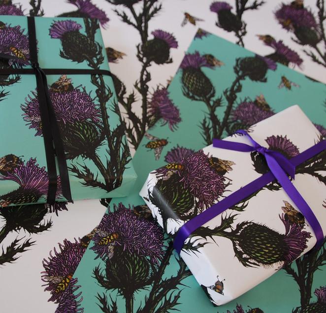 Thistle & Bee Gift Wrap