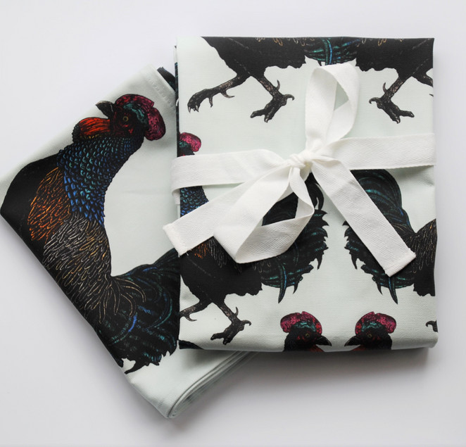 Junglefowl Apron & Tea Towel