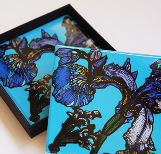 Iris Ceramic Coasters