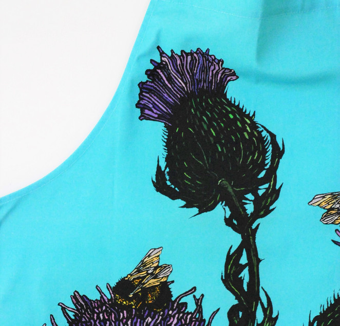 New Thistle and Bee Apron