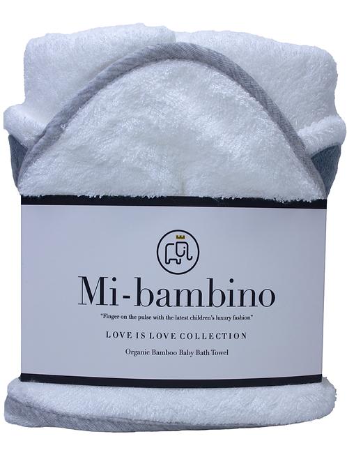 Love is Love Collection  - Dula - Organic Bamboo Baby Hooded Bath Towel
