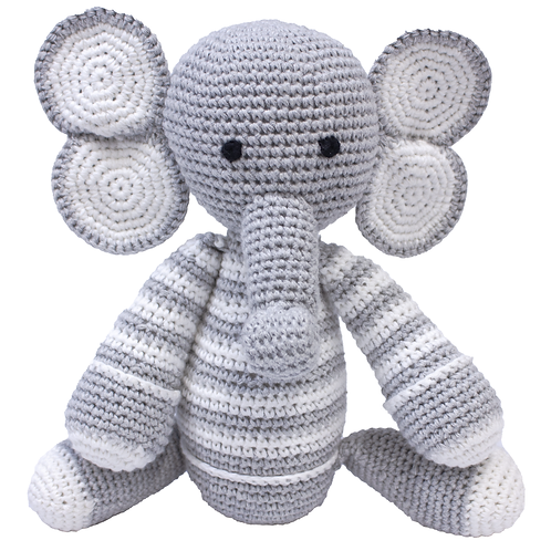 Love is Love Collection  - Signature Hand Knitted Crochet - Elmer Elephant