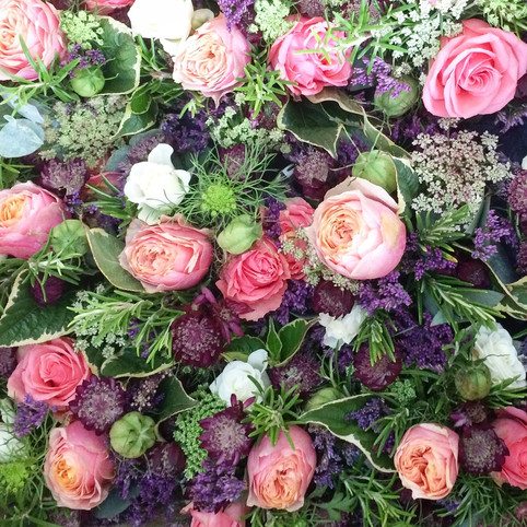 table floral centrepieces