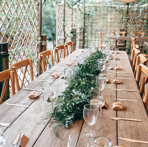 foliage table runners