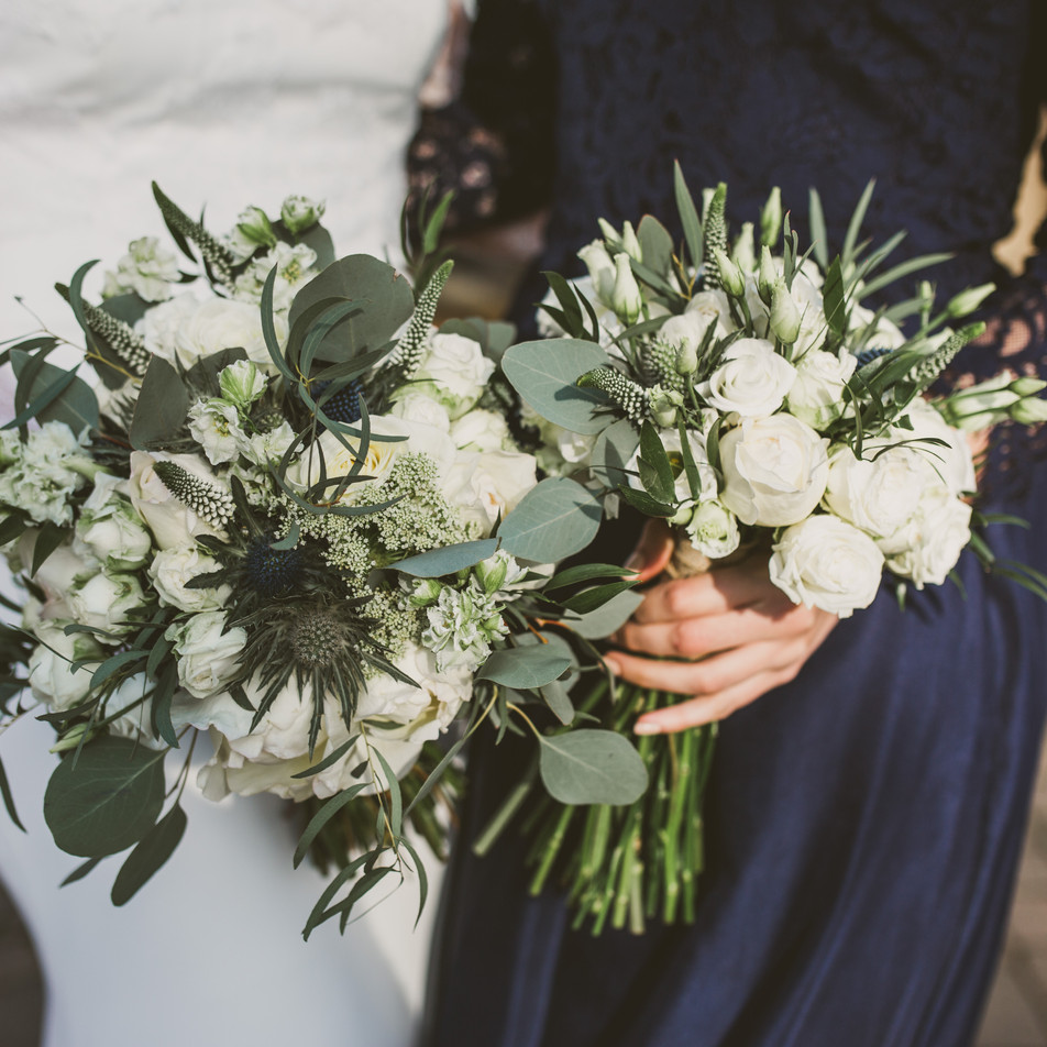 bridal bouquet and bridesmaid bouquet