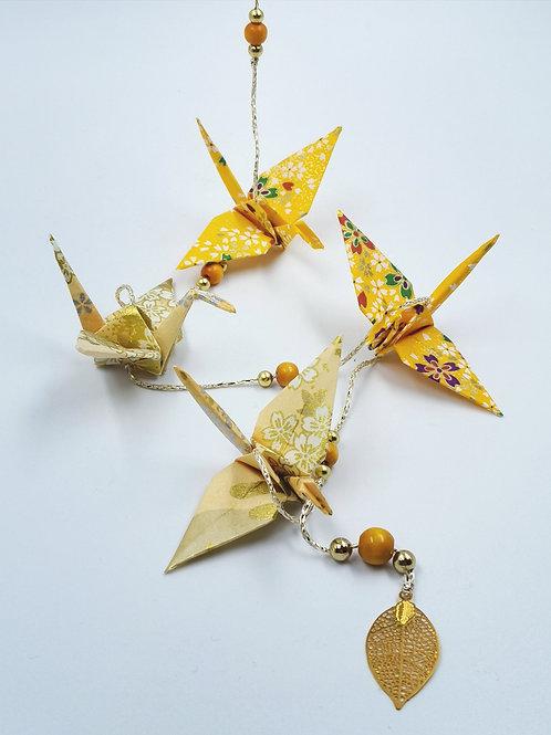 MissDyne : Guirlande origami grue jaune