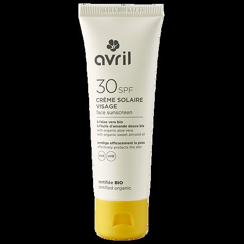 AVRIL : Crème solaire visage certifiée bio - Indice au choix