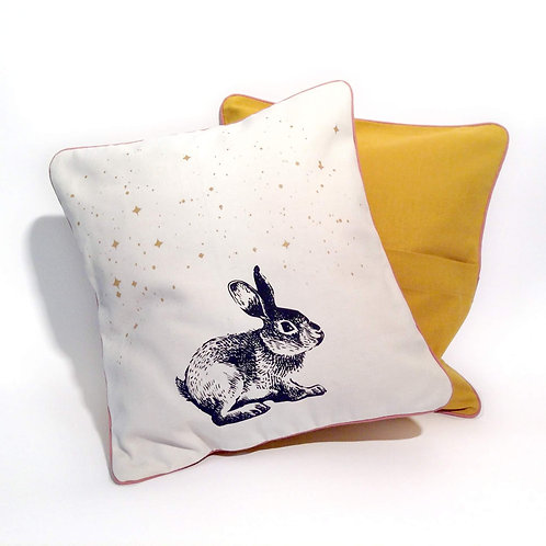 "Coussin ""Rabbit in the Stars """