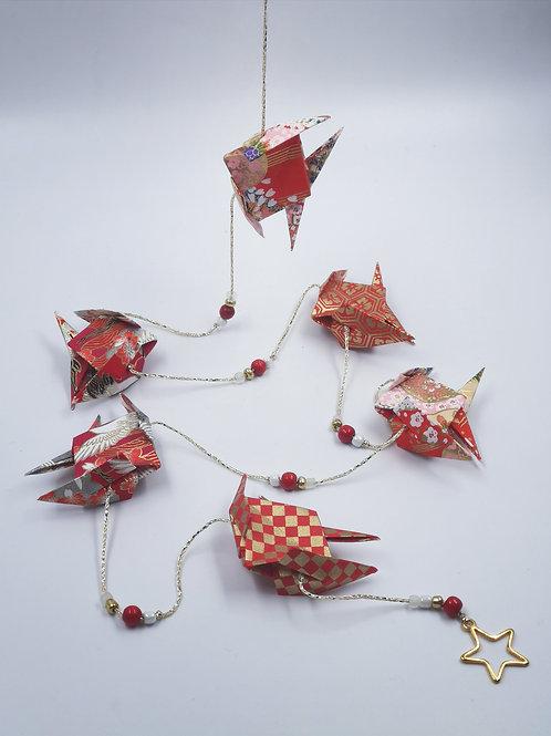 MissDyne : Guirlande origami poisson rouge