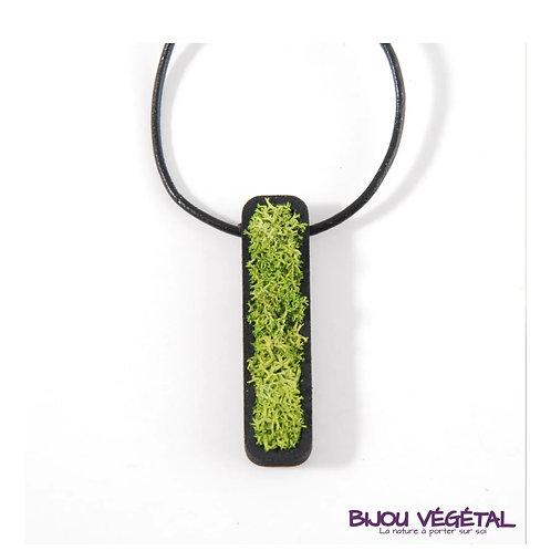 Bijou végétal : collier jardinière de lichen