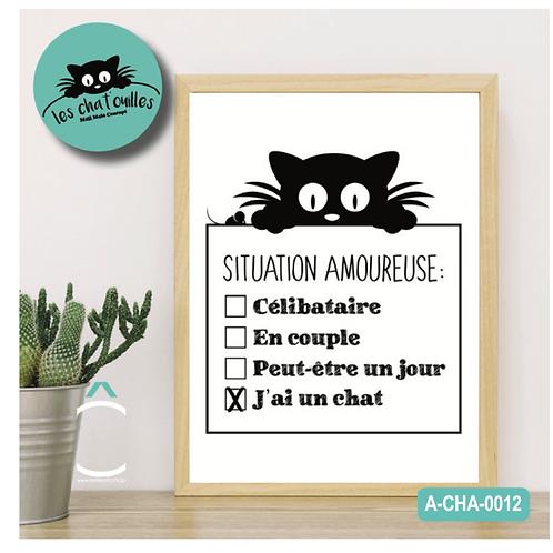 Méli- Mélo Cadre – Situation amoureuse: j'ai un chat