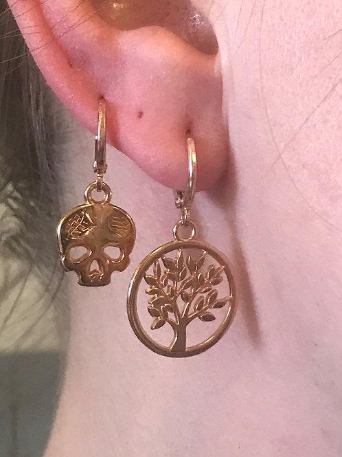 Boucles d'oreilles rose gold à l'unité ou à la paire