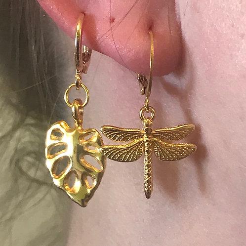 Boucles d'oreilles Dorée à l'unité ou la paire
