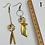 Thumbnail: Cé Chouette : Boucles d'oreilles PVC /Bronze/Laiton / cuir