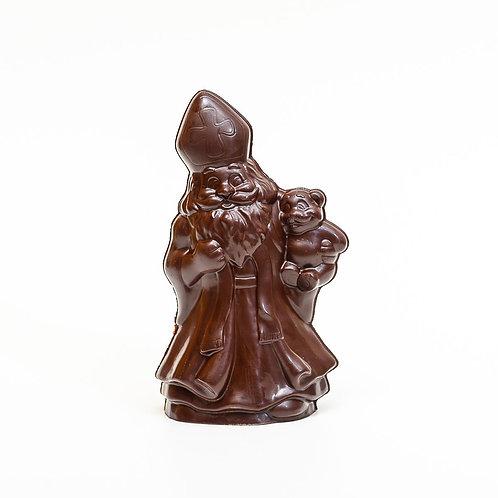 LA chocolaterie du haut clocher St Nicolas creux tout chocolat 18 cm