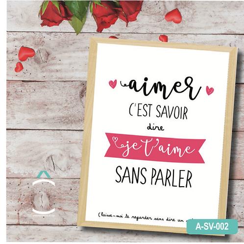 """Méli- Mélo Cadre – Aimer c'est savoir dire """"je t'aime"""" sans parler"""