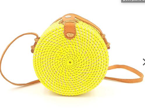 Petit sac en rotin tressé – 18cm | Femme