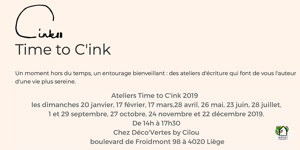 Ateliers d'écritures Time to C'ink